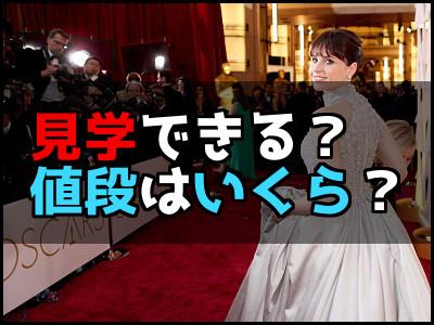アカデミー賞のレッドカーペットは見学できる?値段はいくら?